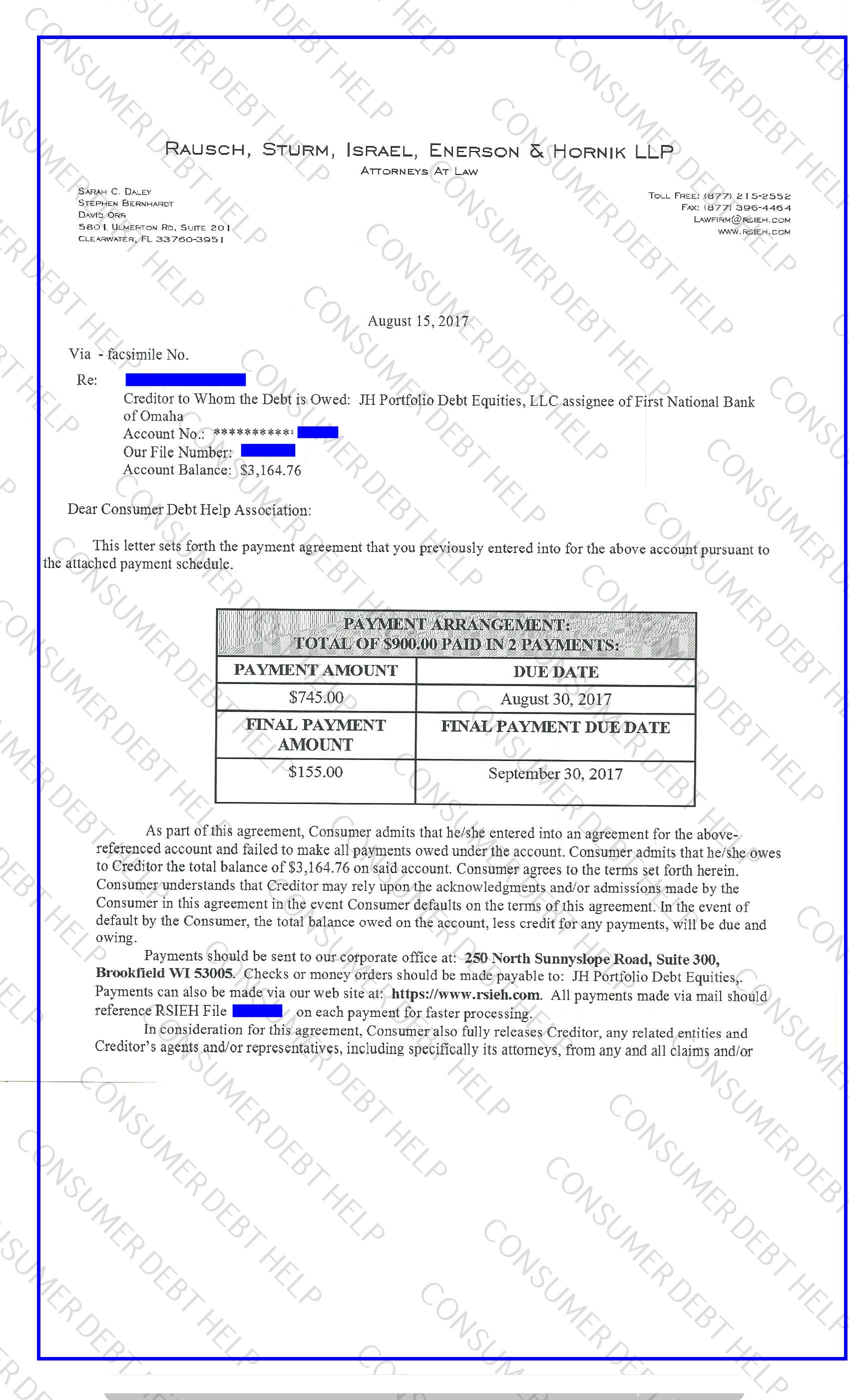 Settlement letters from first national bank of omaha consumer debt debt relief specialist wants to share a settlement letter from first national bank of omaha spiritdancerdesigns Choice Image